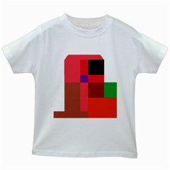 Colorful Abstraction Kids White T Shirts