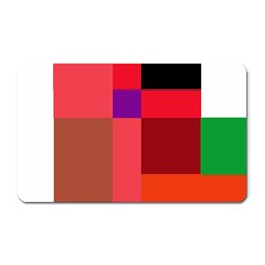 Colorful Abstraction Magnet (rectangular) by Valentinaart