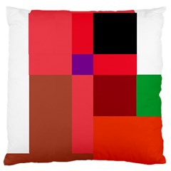 Colorful Abstraction Large Cushion Case (one Side) by Valentinaart