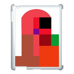 Colorful Abstraction Apple Ipad 3/4 Case (white) by Valentinaart