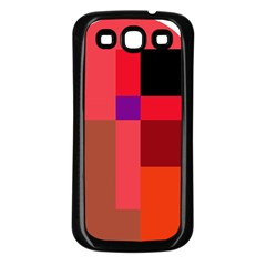 Colorful Abstraction Samsung Galaxy S3 Back Case (black) by Valentinaart