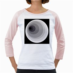 Gray Abstraction Girly Raglans by Valentinaart