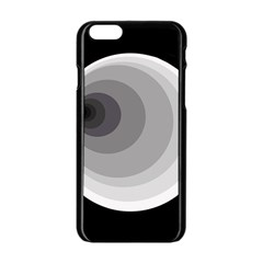 Gray Abstraction Apple Iphone 6/6s Black Enamel Case by Valentinaart