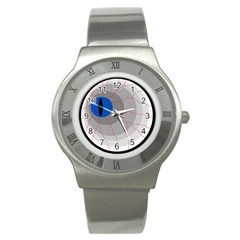 Blue Eye Stainless Steel Watch by Valentinaart