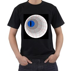 Blue Eye Men s T-shirt (black) by Valentinaart