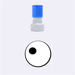 Blue Eye Rubber Round Stamps (small) by Valentinaart