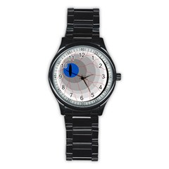 Blue Eye Stainless Steel Round Watch by Valentinaart