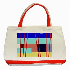 Abstract Landscape Classic Tote Bag (red) by Valentinaart