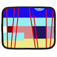 Abstract Landscape Netbook Case (large) by Valentinaart
