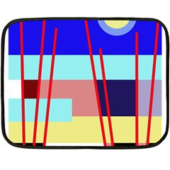 Abstract Landscape Double Sided Fleece Blanket (mini)  by Valentinaart