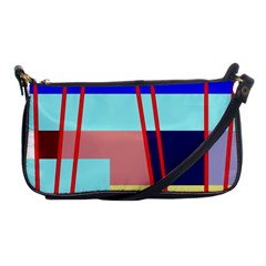 Abstract Landscape Shoulder Clutch Bags