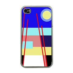 Abstract Landscape Apple Iphone 4 Case (clear) by Valentinaart