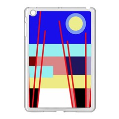 Abstract Landscape Apple Ipad Mini Case (white) by Valentinaart