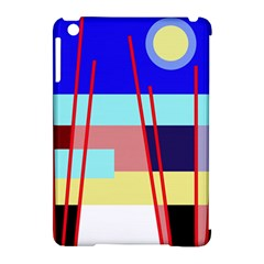 Abstract Landscape Apple Ipad Mini Hardshell Case (compatible With Smart Cover) by Valentinaart