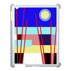 Abstract Landscape Apple Ipad 3/4 Case (white) by Valentinaart