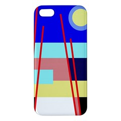 Abstract Landscape Apple Iphone 5 Premium Hardshell Case by Valentinaart