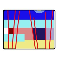 Abstract Landscape Double Sided Fleece Blanket (small)  by Valentinaart
