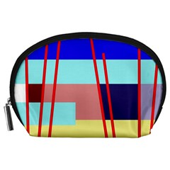 Abstract Landscape Accessory Pouches (large)  by Valentinaart