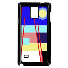 Abstract Landscape Samsung Galaxy Note 4 Case (black) by Valentinaart