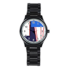 Decorative Abstraction Stainless Steel Round Watch by Valentinaart
