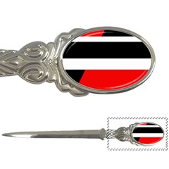 Red, White And Black Abstraction Letter Openers by Valentinaart