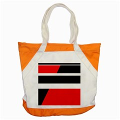 Red, White And Black Abstraction Accent Tote Bag by Valentinaart