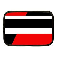 Red, White And Black Abstraction Netbook Case (medium)  by Valentinaart