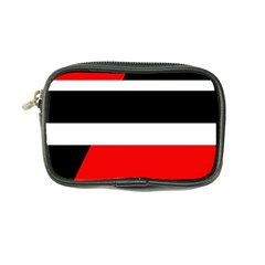 Red, White And Black Abstraction Coin Purse by Valentinaart