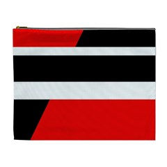 Red, White And Black Abstraction Cosmetic Bag (xl) by Valentinaart
