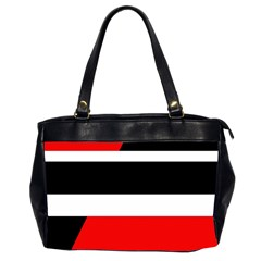 Red, White And Black Abstraction Office Handbags (2 Sides)  by Valentinaart