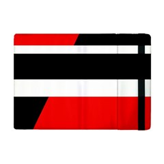 Red, White And Black Abstraction Apple Ipad Mini Flip Case by Valentinaart