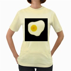 Egg Women s Yellow T Shirt