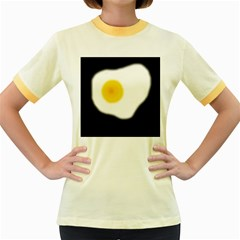Egg Women s Fitted Ringer T Shirts