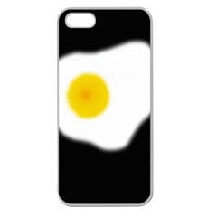 Egg Apple Seamless Iphone 5 Case (clear) by Valentinaart