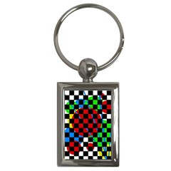 Colorful Abstraction Key Chains (rectangle)  by Valentinaart