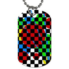 Colorful Abstraction Dog Tag (two Sides) by Valentinaart