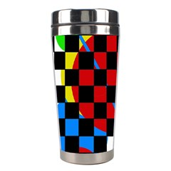 Colorful Abstraction Stainless Steel Travel Tumblers by Valentinaart