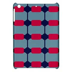 Red Blue Shapes Pattern                                                                                     			apple Ipad Mini Hardshell Case by LalyLauraFLM