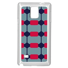 Red Blue Shapes Pattern                                                                                     			samsung Galaxy Note 4 Case (white) by LalyLauraFLM