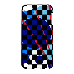 Blue Abstraction Apple Ipod Touch 5 Hardshell Case by Valentinaart