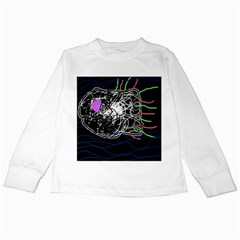 Neon Fish Kids Long Sleeve T Shirts by Valentinaart