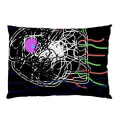 Neon Fish Pillow Case by Valentinaart