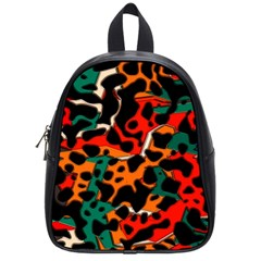 Metallic Shapes In Retro Colors                                                                                      			school Bag (small) by LalyLauraFLM