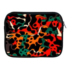 Metallic Shapes In Retro Colors                                                                                     			apple Ipad 2/3/4 Zipper Case by LalyLauraFLM