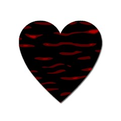 Red And Black Heart Magnet by Valentinaart