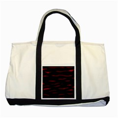 Red And Black Two Tone Tote Bag by Valentinaart