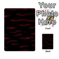 Red And Black Multi Purpose Cards (rectangle)  by Valentinaart