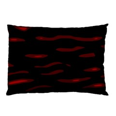 Red And Black Pillow Case by Valentinaart