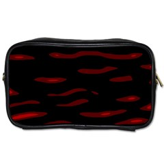 Red And Black Toiletries Bags 2 Side by Valentinaart