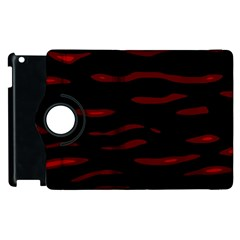 Red And Black Apple Ipad 3/4 Flip 360 Case by Valentinaart